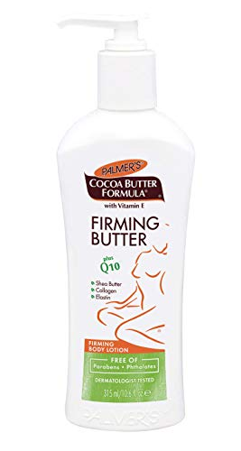 (Palmer's Cocoa Butter Formula with Vitamin E + Q10 Firming Butter Body Lotion  |  Made with Shea Butter, Collagen, Elastin  |  Free of Parabens & Phthalates  |  Pump Bottle 10.6 fl. oz.)