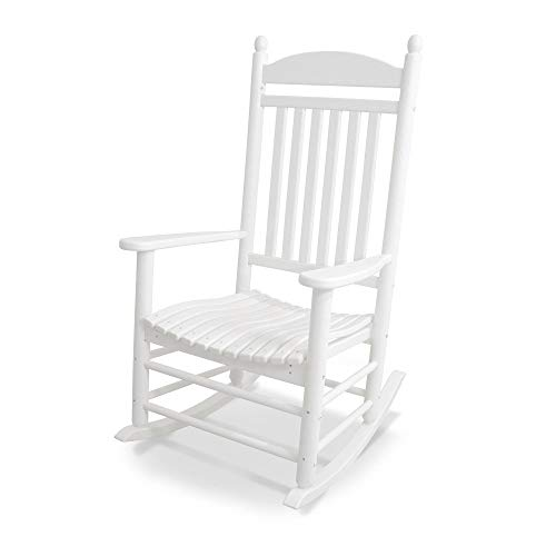 POLYWOOD J147WH Jefferson Outdoor Rocking Chair, White