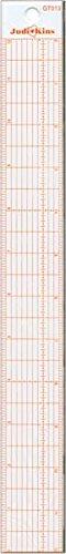 Judikins GT0-13 Steel Hi-Vis Edge Ruler, 12-Inch (Ruler Edge Decorative)