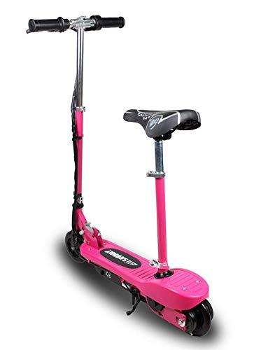 Patinete electrico rosa para niños plegable con asiento ...