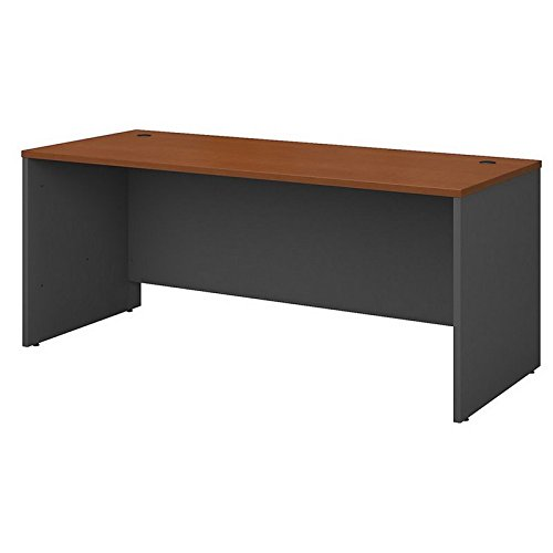 Bush Business Furniture Series C 72W x 30D Office Desk in Auburn Maple (Series U-shape Computer)