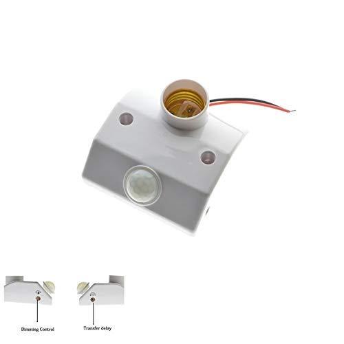 AiCheaX E27 - Sensor de movimiento LED con soporte de base ...