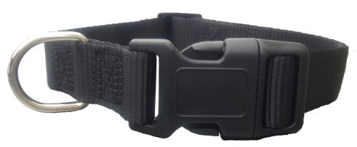 """Basic Pet Collars for Puppy Boys Small Dogs Dog Collar 10-16"""" ,Small (S) Size Classic Black"""