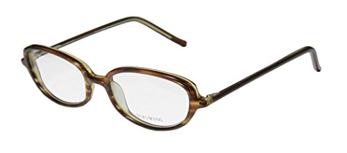 Vera Wang V40 Womens/Ladies Ophthalmic Inexpensive Designer Full-rim Eyeglasses/Eyeglass Frame (51-17-136, Brown)