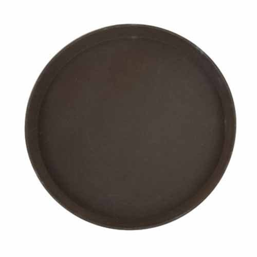 - Winco TFG-14N, 14-Inch Round Deluxe Non-Slip Fiberglass Tray, Brown Bar Serving Tray with Molded in Non-Slip Surface