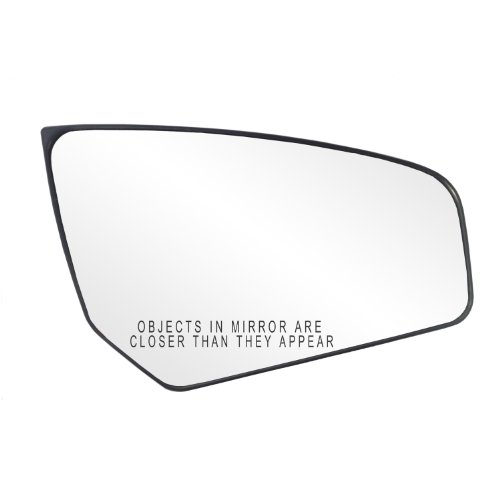 Fit System 80234 Nissan Sentra Right Side Manual Remote/Power Replacement Mirror Glass with Backing Plate