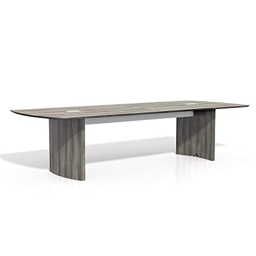 Safco Products Medina Modern Office Conference Meeting Room Table, 10', Gray Steel