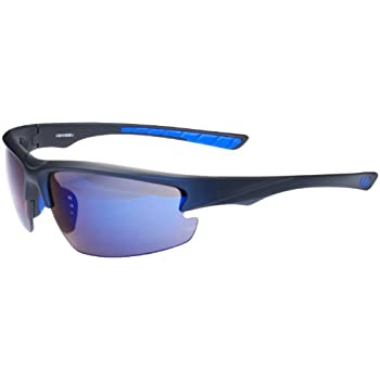 e4a50bcaee94 Hilton Bay A59 Sunglasses Wrap Style UV400 Lens for Baseball, Softball,  Cycling, Golf, Kayaking and All Active Sports (Black & Blue)
