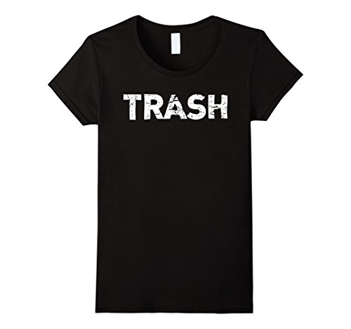 Womens White Trash Funny Halloween T-Shirt XL Black - White Trash Costume Ideas For Women