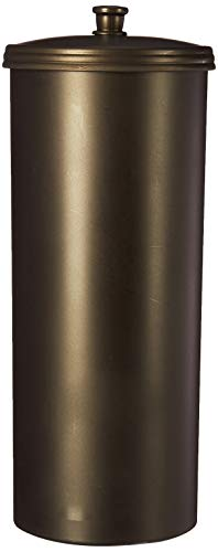 iDesign Kent Plastic Toilet Tissue Roll Reserve Organizer for Bathroom, Vertical Free Standing Compact Organizer, Holds 3 Rolls of Toilet Paper, Bronze (Stand Holder Toilet)