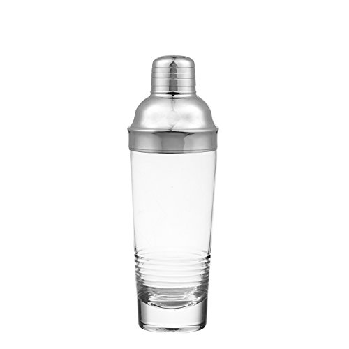 Qualia Glass Scandal Martini Shaker by 21 oz., Clear/Silver