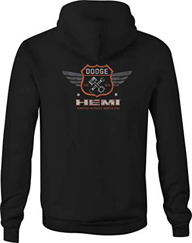 American Zip Up Hoodie Dodge Hemi Vintage Hooded Sweatshirt for Men - 2XL Black