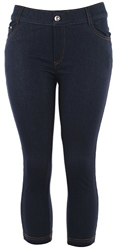 Stretch Classic Capris (Enimay Women's Capri Jeggings Leggings Skinny Pants Stretch to Fit Sexy Classic Navy Small | Medium)