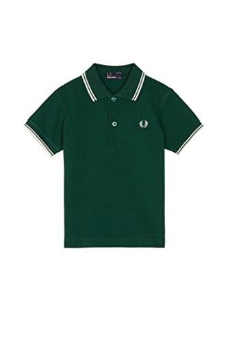 Fred Perry Little Boys' Twin Tipped Shirt, IVY Green, 3/4