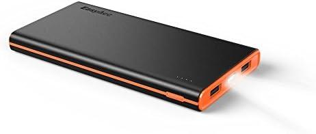 EasyAcc Colorido-G2 10000mAh Batería Externa (2.4A inteligente de salida) Power Bank para Smartphones Tablets Altavoz Bluetooth - Negro Y Naranja...