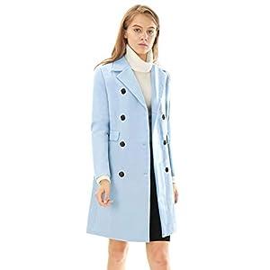 Allegra K Tranchée-Manteau à Revers croisé de la Saint-Patrick pour Femmes
