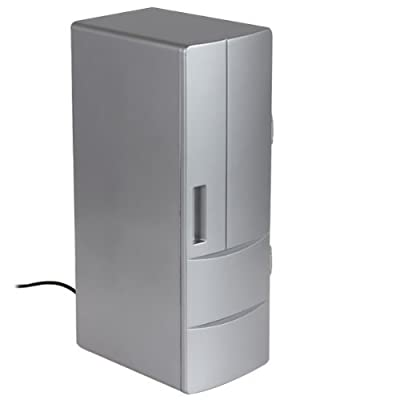 USB Fridge, KINGEAR Tabletop Compact Refrigerator with Cooler and Warmer