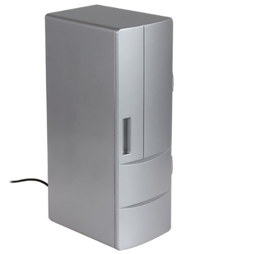 KINGEAR USB Fridge, Portable Beverage Drink Cans Cooler/Warmer Refrigerator for Home, Office, Laptop, PC, Car or Boat (Mini Frige Lock compare prices)