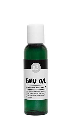 Emu Oil By E3 Naturals - Omega 3, 6, and 9 In 1 Bottle - Cold Processed For Quality - Relieves Body Pains - Heals Skin Problems - Erases Aging - Keeps Hair Shiny & Smooth (60 ml)