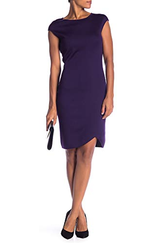 (St. John Collection Milano Knit Wool Blend Cap Sleeve Sheath Dress (10, Royal Amethyst) )