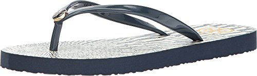 Tory Burch Flip Flops Shoes Sandals Flat Rubber (7, Navy - Navy Tory Burch