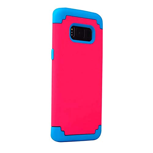 - Compatible with Galaxy S8 Plus (2017) Cell Phone Heavy Duty Slim Shockproof Drop Protection 2 in 1 [Dual Layer] Hybrid Protective Hard PC Covers Soft Rubber Bumper Protective Case Cute Red