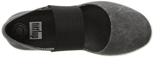 FitFlop Women's F-Sporty Mary Jane Flat, Black, 8.5 M US by FitFlop (Image #8)