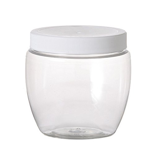(12 Pack of Plastic Jars - 8 oz Pet Venetian Style - 70mm Neck Size - Lot of 12 )