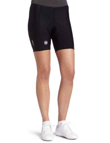 Canari Cyclewear Women's Pro Gel Short Padded Cycling Short (Black, Small)
