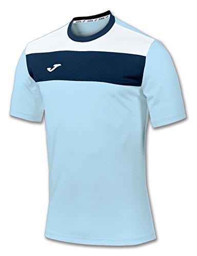 Joma 100224.350 - Camiseta de equipación de Manga Corta para Hombre, Color Azul Celeste,