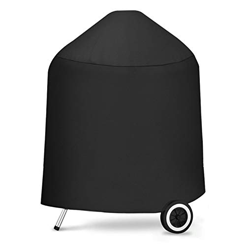 SHINESTAR Waterproof Grill Cover 27in L x 25in W x 35in H for 22.5-inch Weber Charcoal Grill & Kettle Charcoal Grill- Heavy Duty 600D Oxford Fabric (UV, Dust Water Resistant, Rip Resistant) ()