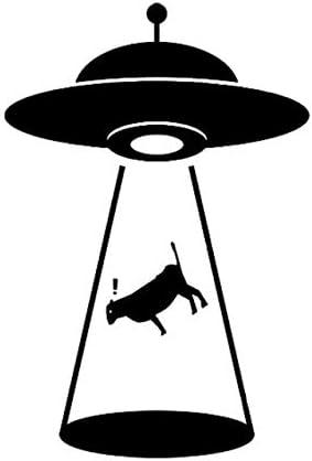 Color Name : Black Black Box car Sticker 8.9cm 13,3 cm Alien Abduction Cattle Vinyl Aufkleber Auto-Aufkleber UFO Schwarz//Silber Black Box car Sticker
