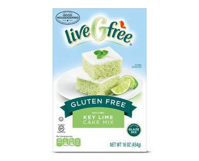 LiveGfree Gluten Free Key Lime Cake Mix 15.5oz, pack of 1( total 15.5oz) (Best Key Lime Cake)