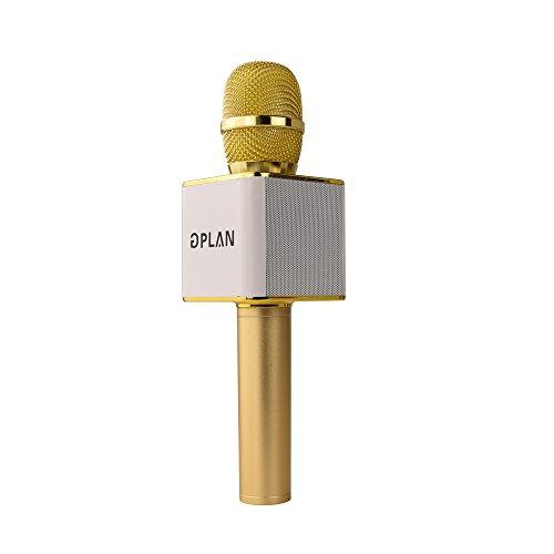 5 Disc Karaoke Player (GPLAN Wireless Karaoke Microphone Magic Handheld Karaoke Bluetooth Stereo Speaker Karaoke Mic Machine Music Player for Home KTV Singing Kids Training Support USB Disk (Gold))