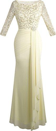 3/4 sleeve ball gown wedding dress - 7