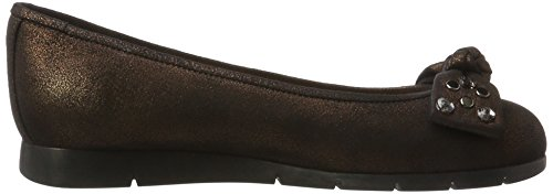 Unisa Women's Anega_MTS Closed Toe Ballet Flats Brown (Cobre Cobre) W5oJsB