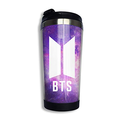 BTS Bangtan Boys Coffee Cups Stainless Steel Drinking Bottle Vacuum Insulated Travel Mug Coffee Tumbler 14 OZ