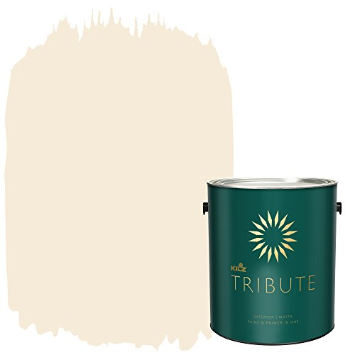 KILZ TRIBUTE Interior Matte Paint and Primer in One, 1 Gallon, Ivory Porcelain (TB-05) ()