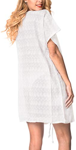 De Playa San Cortocircuito Valentin Br002 Bikini Cubierta Blanco a430 Leela Mujer Hasta La Del Algodón xZwBfHqWE