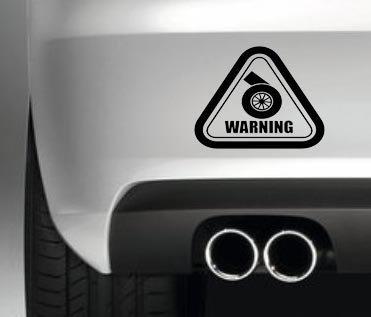 Advertencia Turbo pegatina . Ventanas divertidos coches / los trabajos de pintura de vinilo pegatina JDM Drift: Amazon.es: Coche y moto