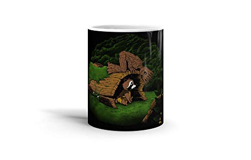 Ceramic Coffee Mug Comic Strip Cup The Tree And The Raccoon Comics Comedian Drinkware Super White Mugs Family Gift Cups 11oz 325ml