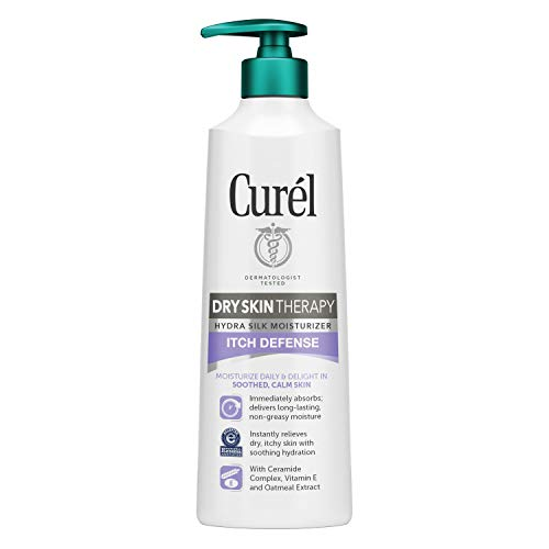 Curél Skincare Hydra Silk Itch Defense Moisturizer, 12 Ounce Dry, Itchy Skin Therapy Lotion, with Oatmeal Extract, and Vitamin E, Experience Non-irritating Hydration
