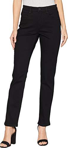 FDJ French Dressing Jeans Women's Petite Onyx Denim Suzanne Straight Leg Black 8 Petite