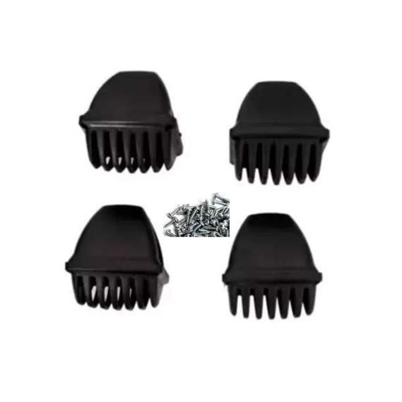 Indicator Grill for Splendor Plus and Splendor PRO - Black (Pack of 4 Pcs.) - Free COVID Handsfree Keychain