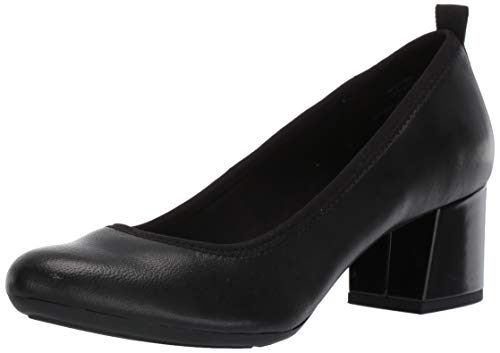 Anne Klein AK Sport Women's Global Pump, Black Leather, 6.5 M US (Ak Anne Klein Sport Womens Guardian Dress Pump)