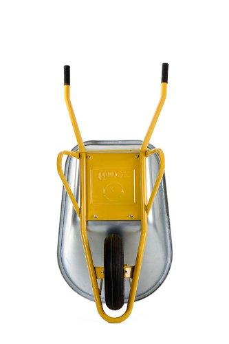 2x Profi Schubkarre Bauschubkarre gelb 100l Liter mit Bodenplatte ***NEU***