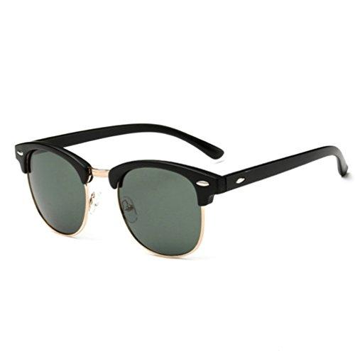 clásicas moda mujeres estilo de Gafas Verde económicas Ban sol y polarizadas cristal calidad para de retro unisex espejo de excelente Ray sol polarizadas gafas marco color metálico hombres de cwYOOarXq