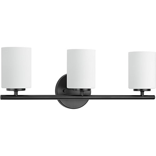 Contemporary Bathroom Sconces - Progress Lighting P2159-31 Replay Black Three-Light Bath & Vanity,