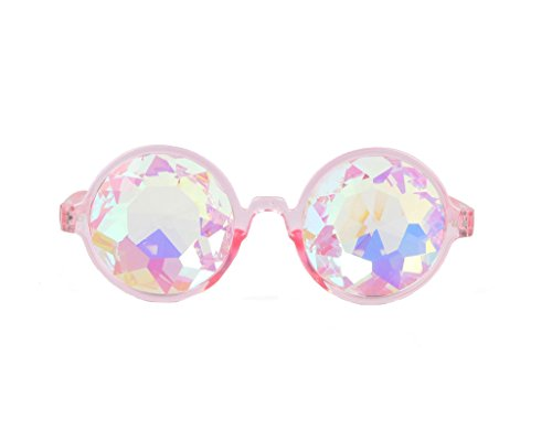 Festivals Kaleidoscope Glasses for Raves - Rainbow Prism Diffraction Crystal - Trippy Sunglasses
