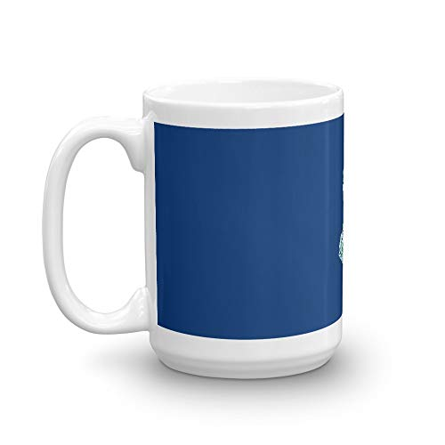 New Jersey Pattern Mug 15 Oz White Ceramic